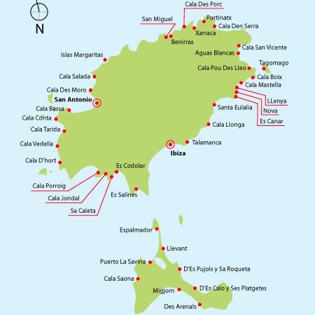 Mapa De Ibiza Calas.Rutas Para Navegar Por Ibiza